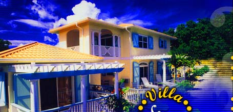 Relax in your own romantic tropical villas high atop the Caribbean waters of St. John, US Virgin Islands